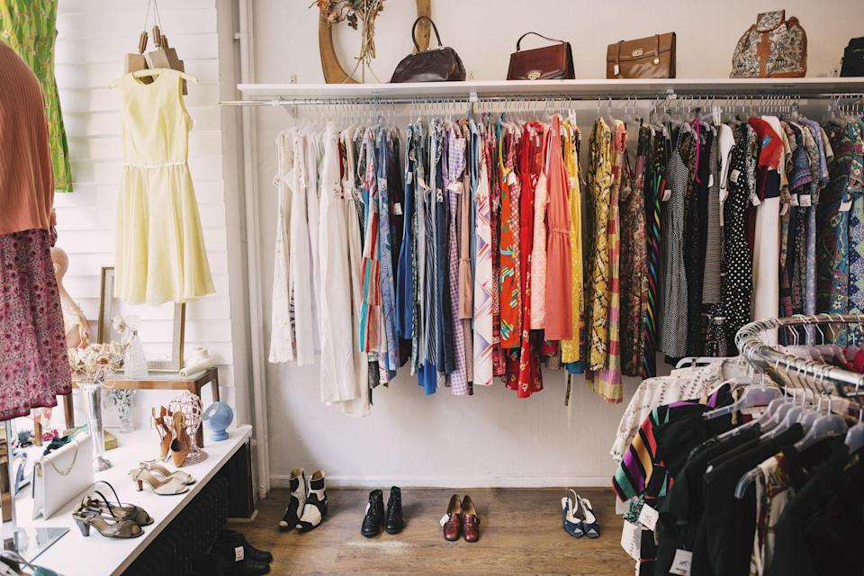"""<p>Charity shops are a great piece of the sustainable and ethical fashion puzzle, whether you're on a <a href=""""https://www.elle.com/uk/fashion/a30749692/circular-fashion/"""" rel=""""nofollow noopener"""" target=""""_blank"""" data-ylk=""""slk:circular fashion"""" class=""""link rapid-noclick-resp"""">circular fashion</a> mission for the planet or your purse. Not only are second-hand items much cheaper than their new counterparts, the shops ensure that clothes are kept in use for longer, provide much-need funds for charities, and, they are full of real sartorial treasures - as <a href=""""https://www.elle.com/uk/fashion/g29842174/celebrities-vintage-red-carpet-vintage/"""" rel=""""nofollow noopener"""" target=""""_blank"""" data-ylk=""""slk:vintage aficionado Kate Moss"""" class=""""link rapid-noclick-resp"""">vintage aficionado Kate Moss</a> <a href=""""https://www.elle.com/uk/fashion/celebrity-style/news/a41088/kate-moss-charity-donations-shop/"""" rel=""""nofollow noopener"""" target=""""_blank"""" data-ylk=""""slk:once said"""" class=""""link rapid-noclick-resp"""">once said</a>: 'all these <a href=""""https://www.elle.com/uk/fashion/g31174216/vintage-clothing-online/"""" rel=""""nofollow noopener"""" target=""""_blank"""" data-ylk=""""slk:vintage shops"""" class=""""link rapid-noclick-resp"""">vintage shops</a>, they just go and trawl all the charity shops.'</p><p>So, if you're up for the rummage, why not cut out the middle man and head straight to the charity rails? </p><p>In fact, according to Fee Gilfeather, from Oxfam's Trading Team, post lockdown is the perfect time to find those hidden gems: 'I know that many of us have been busy decluttering under lockdown and we're receiving lots of great donations so now is definitely a great time to shop.' </p><p>But, with a charity shop on what feels like every corner in London, the sheer choice of can feel a little overwhelming, which is why we approached fashion insiders to find out which specific charity shops are their favourites.</p><p>'Anyone looking for a designer bargain should check out our Oxfam boutiques on the Kings Roa"""