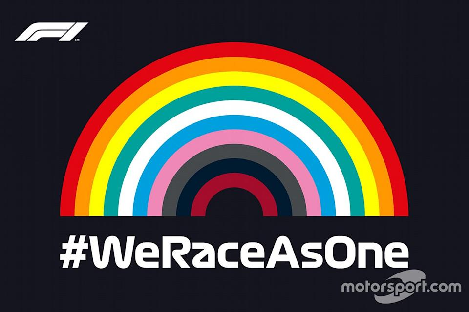 "Iniciativa #WeRaceAsOne<span class=""copyright"">Liberty Media</span>"