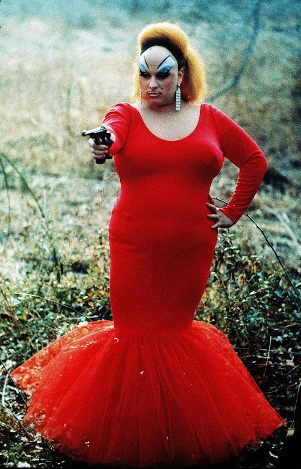 "<a href=""http://movies.yahoo.com/movie/contributor/1800056619"">Divine</a>, ""<a href=""http://movies.yahoo.com/movie/1800106305/info"">Pink Flamingos</a>""<br><br>After being named ""the filthiest person alive"" by a local magazine, Babs Johnson engages in a crude competition with her rivals Connie and Raymond Marble. Along the way, she becomes an axe-murdering, hostage-taking, fecalfeliac with a heart of coal."