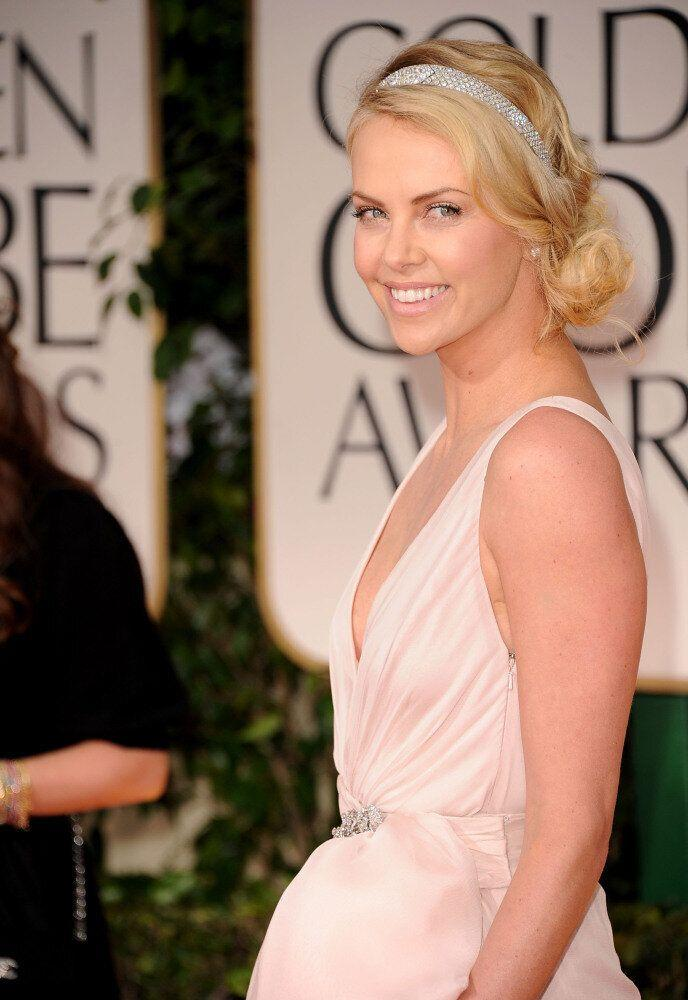 Actress Charlize Theron arrives at the 69th Annual Golden Globe Awards held at the Beverly Hilton Hotel on January 15, 2012 in Beverly Hills, California. (Jason Merritt, Getty Images)