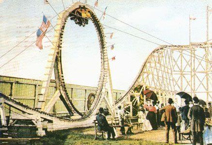 """<p>Also in the Coney Island area of Brooklyn, the Flip-Flap Railway was the first looping roller coaster in the United States. It also had a circular track, and actually gave some unlucky riders mild whiplash. But it could have been worse: Around the time the Flip-Flap Railway was decommissioned, the parks were testing a """"<a href=""""https://rcdb.com/2637.htm"""" rel=""""nofollow noopener"""" target=""""_blank"""" data-ylk=""""slk:Cannon Coaster"""" class=""""link rapid-noclick-resp"""">Cannon Coaster</a>,"""" which had cars that were meant to jump a gap in the tracks. It was deemed unsafe during testing and never debuted for riders.<br></p>"""