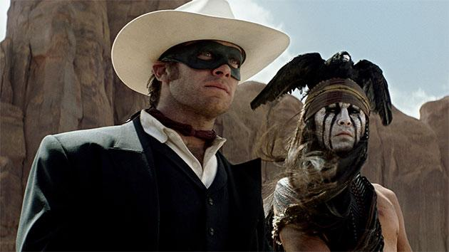 Armie Hammer and Johnny Depp in 'The Lone Ranger'