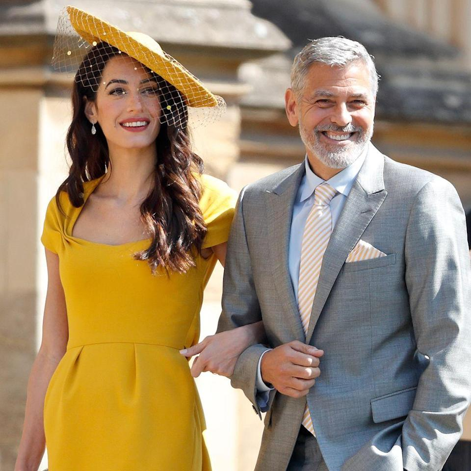 """<p><strong>Age gap:</strong> 17 years</p><p>Beloved couple George and Amal Clooney have a pretty significant age gap between them. When <a href=""""https://www.womenshealthmag.com/relationships/g20526558/george-clooney-wife-amal-clooney-love-story/?slide=1"""" rel=""""nofollow noopener"""" target=""""_blank"""" data-ylk=""""slk:the two met in 2013"""" class=""""link rapid-noclick-resp"""">the two met in 2013</a>, """"I thought she was beautiful, and I thought she was funny and obviously smart,"""" George told the <a href=""""https://www.hollywoodreporter.com/features/at-home-george-clooney-italy-amal-twins-politics-an-incendiary-new-movie-1035363"""" rel=""""nofollow noopener"""" target=""""_blank"""" data-ylk=""""slk:Hollywood Reporter"""" class=""""link rapid-noclick-resp"""">Hollywood Reporter</a> in an interview, and then joked that Amal """"probably thought I was old.""""</p><p>The two were <a href=""""https://www.womenshealthmag.com/relationships/g20526558/george-clooney-wife-amal-clooney-love-story/?slide=9"""" rel=""""nofollow noopener"""" target=""""_blank"""" data-ylk=""""slk:married in 2014"""" class=""""link rapid-noclick-resp"""">married in 2014</a>, and <a href=""""https://www.womenshealthmag.com/relationships/g20526558/george-clooney-wife-amal-clooney-love-story/?slide=14"""" rel=""""nofollow noopener"""" target=""""_blank"""" data-ylk=""""slk:welcomed twins"""" class=""""link rapid-noclick-resp"""">welcomed twins</a> Alexander and Ella later that year. </p>"""