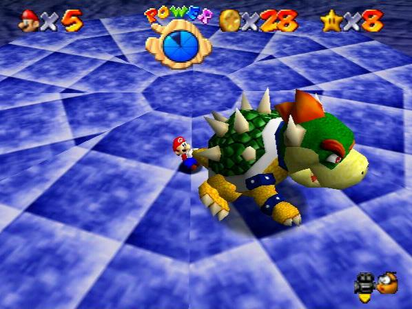 Mario fights Bowser in the original 'Super Mario 64'Nintendo