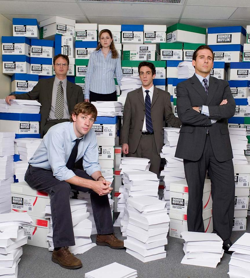 """Perennial nominee <a href=""""/the-office-nbc/show/36001"""">""""The Office""""</a> won't see a Globe on their filing cabinet for this past season, but the NBC show's in the running for the Writers Guild Awards. Unlike the other comedies on this list, which saw a Search decline compared to 2006, the sitcom ratcheted up a 44% increase this year. However there's no """"Office"""" holiday party to celebrate due to the strike. You can always compare the Brit and the Yank versions or watch Rainn Wilson moonlighting to fill the empty, aching void."""