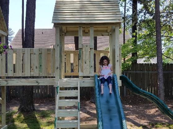 Delaney got the playset of her dreams thanks to Make-A-Wish. (Photo: Courtesy of Make-A-Wish)