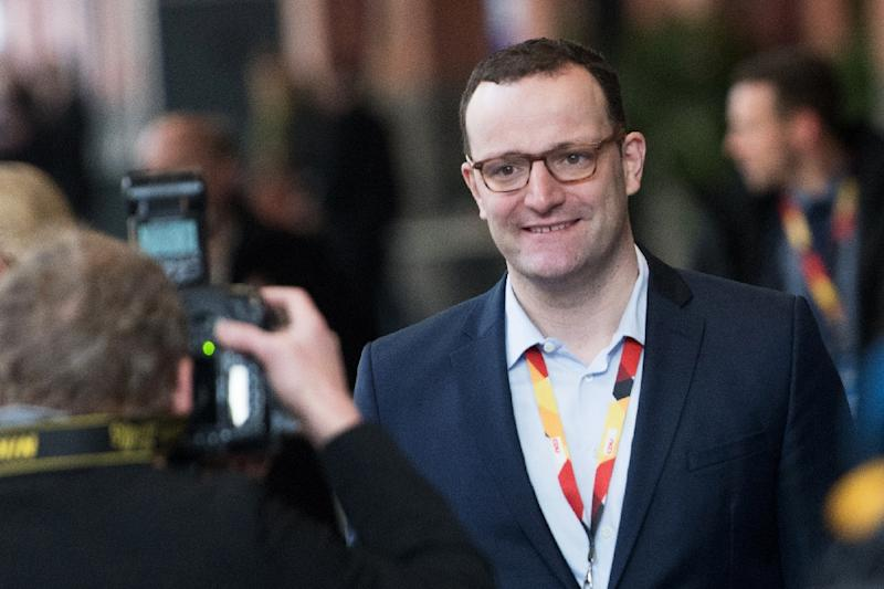 Jens Spahn in 2002 became Germany's youngest member of parliament when he was elected to the Bundestag aged just 22 (AFP Photo/Stefanie LOOS)