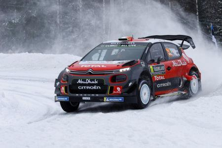 Rally Sweden - 2018 World Rally Championship - Day 3 - Hagfors, Sweden - February 17, 2018 Craig Breen of Ireland drives his Citroen C3 WRC. TT News Agency/Micke Fransson via REUTERS