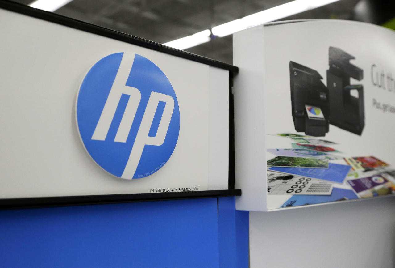 <p> In this Tuesday, May 24, 2016, photo, Hewlett-Packard products are on display at a store in North Andover, Mass. HP Inc. reports financial results Wednesday, Aug. 24. (AP Photo/Elise Amendola, File) </p>