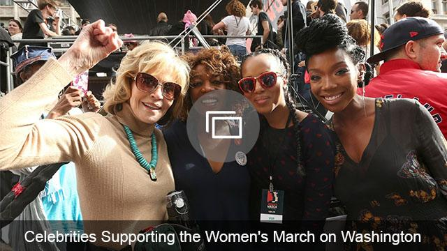 celebs at Women's March Washington slideshow