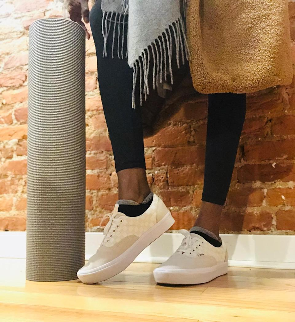 Dana Oliver, Yahoo Lifestyle beauty director, tests out the new ComfyCush Era sneakers on a full day of errands. (Photo: Dana Oliver)