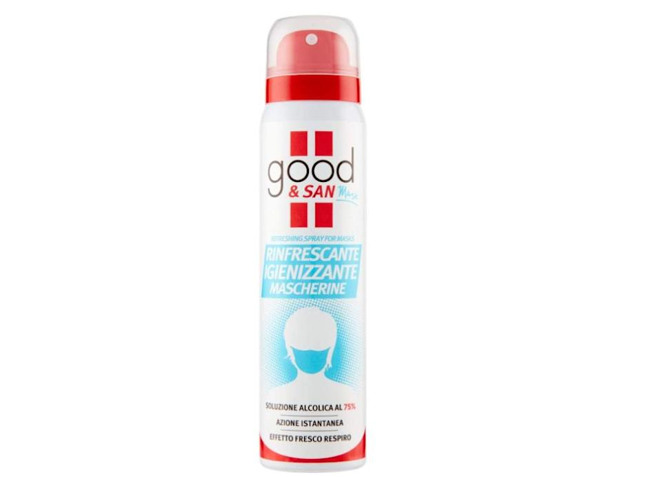 Good & San Mask, Spray Igienizzante Rinfrescante Mascherine