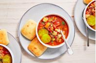 "<p>All the best parts of a burger, in soup form.</p><p>Get the recipe from <a href=""https://www.delish.com/cooking/recipe-ideas/a25607694/hamburger-soup-recipe/"" rel=""nofollow noopener"" target=""_blank"" data-ylk=""slk:Delish"" class=""link rapid-noclick-resp"">Delish</a>.</p>"
