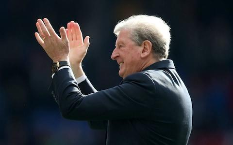 Crystal Palace manager Roy Hodgson during their lap of honour after the Premier League match at Selhurst Park - Credit: Bradley Collyer/PA