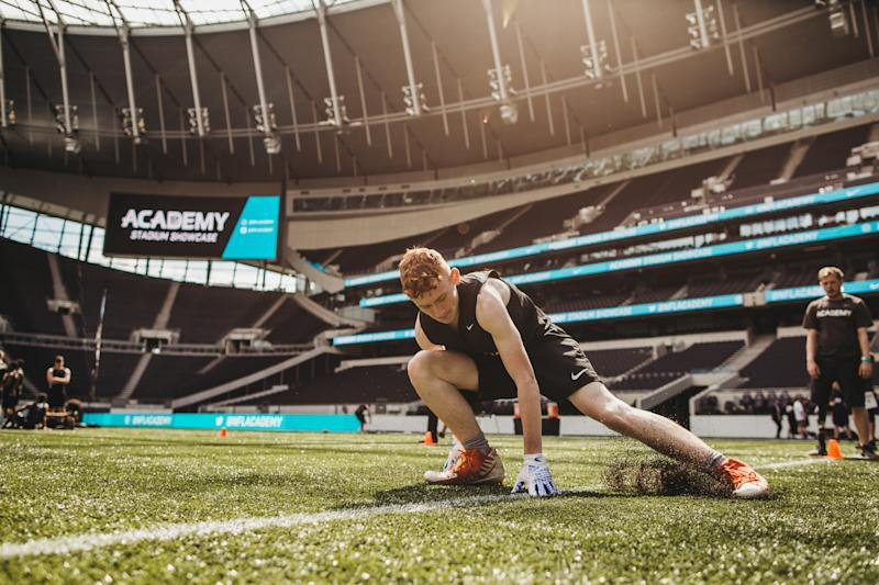 The NFL academy trails at the Tottenham Hotspur (NFL/Hamish Jordan)