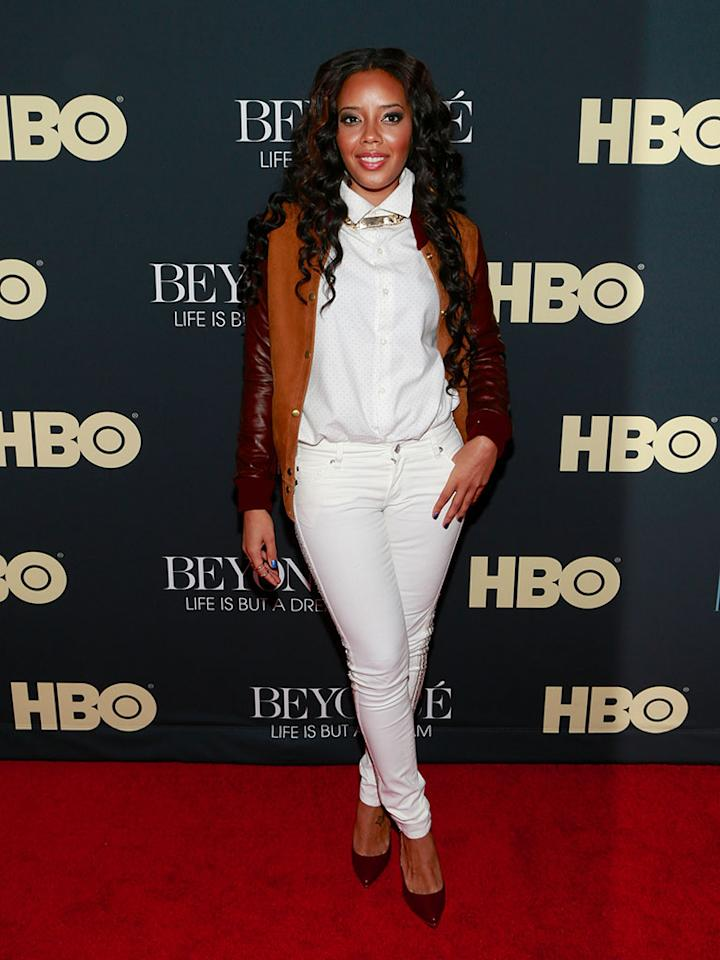 """Angela Simmons attends the """"Beyonce: Life Is But A Dream"""" New York Premiere at Ziegfeld Theater on February 12, 2013 in New York City."""