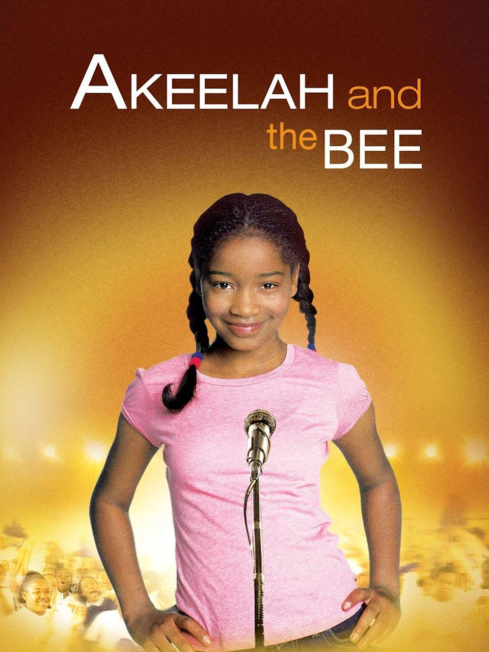"""<p><a class=""""link rapid-noclick-resp"""" href=""""https://www.amazon.com/Akeelah-Bee-Keke-Palmer/dp/B000IBQUO6?tag=syn-yahoo-20&ascsubtag=%5Bartid%7C10070.g.37101104%5Bsrc%7Cyahoo-us"""" rel=""""nofollow noopener"""" target=""""_blank"""" data-ylk=""""slk:STREAM NOW""""><strong>STREAM NOW</strong></a></p><p>An 11-year-old named Akeelah (Keke Palmer) embarks on a journey to win the National Spelling Bee by any means necessary. Thanks to the help of a devoted educator and the support of her South Los Angeles community, the talented student keeps her eyes on the prize.</p>"""