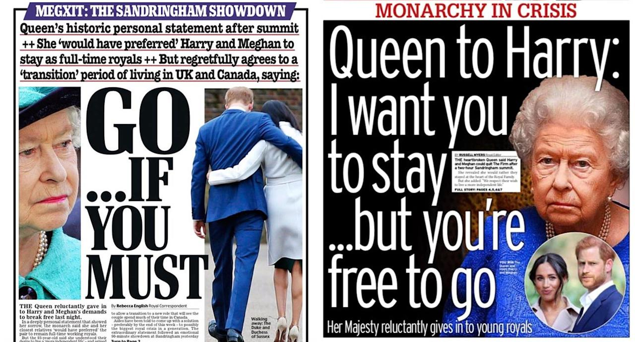Harry and Meghan: How the papers reacted (scroll for more pictures)