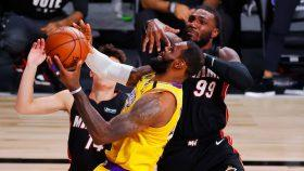 Lakers star LeBron James vs. Heat forward Jae Crowder in NBA Finals