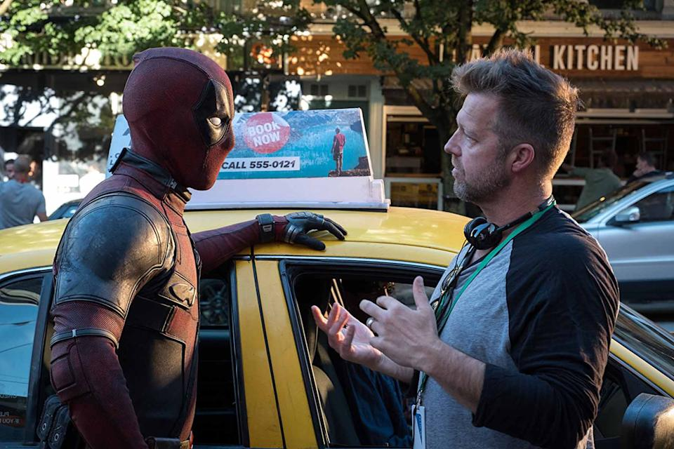 Ryan Reynolds and David Leitch on the set of Deadpool 2 (Credit: 20th Century Fox)