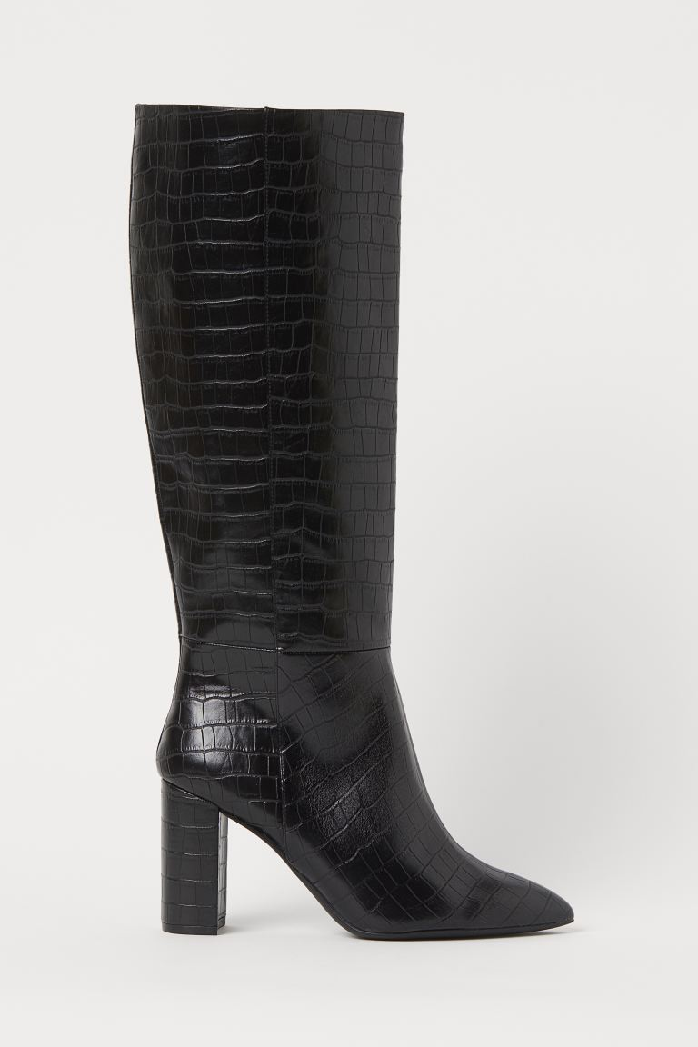 """<br><br><strong>H&M</strong> Crocodile-Patterned Boots, $, available at <a href=""""https://go.skimresources.com/?id=30283X879131&url=https%3A%2F%2Fwww2.hm.com%2Fen_us%2Fproductpage.0898886001.html"""" rel=""""nofollow noopener"""" target=""""_blank"""" data-ylk=""""slk:H&M"""" class=""""link rapid-noclick-resp"""">H&M</a>"""
