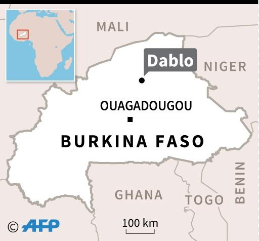 Map of Burkina Faso locating attack in Dablo (AFP Photo/)