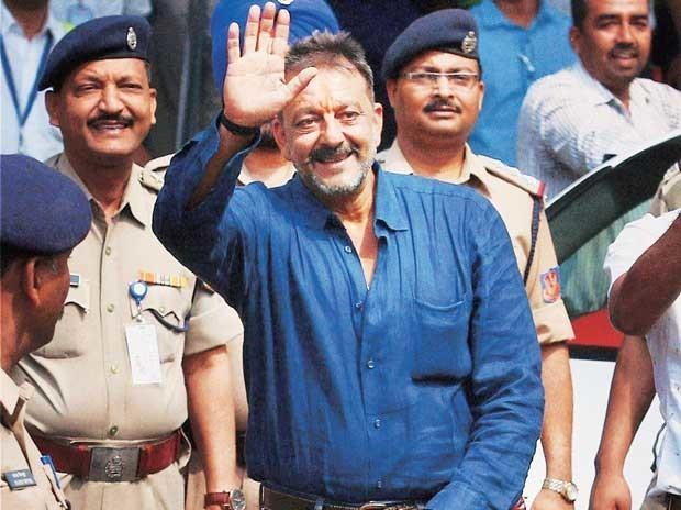 sanjay dutt when he was released from jail