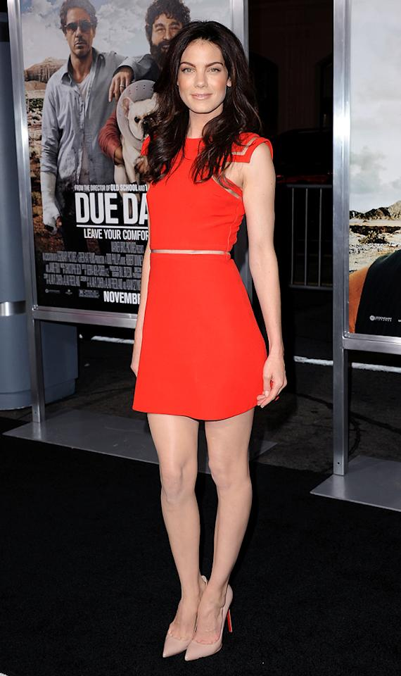 """<a href=""""http://movies.yahoo.com/movie/contributor/1804504037"""">Michelle Monaghan</a> attends the Los Angeles premiere of <a href=""""http://movies.yahoo.com/movie/1810116445/info"""">Due Date</a> on October 28, 2010."""