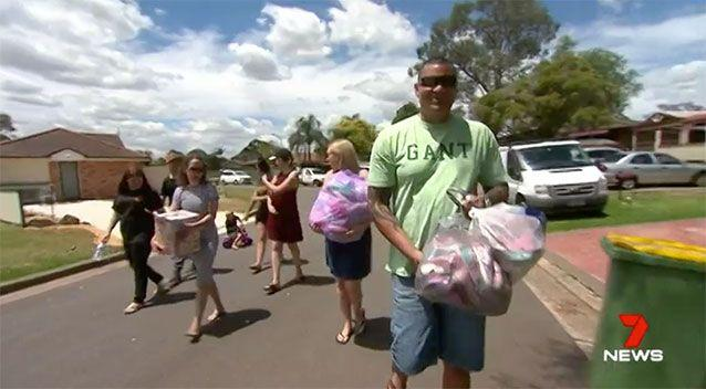 The community rallies to help the family. Source: 7 News