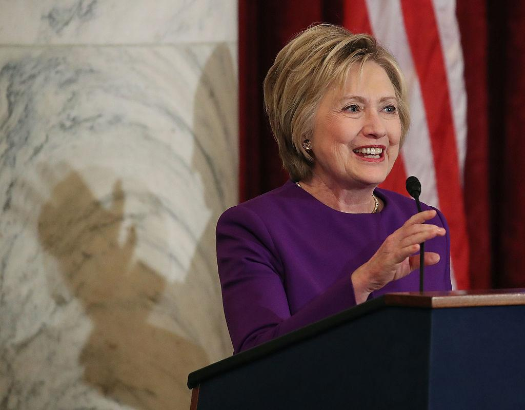 "<p>Ok so she might not have actually become the first female President of the United States *sobs*, but Hillary still made history by becoming the first female nominee of a major party, doing her bit to try and smash down glass ceilings in the process. Not only did her campaign centre around women's issues, her inspirational speeches were peppered with empowering female quotes including this little gem from her concession speech: ""To all the little girls watching, never doubt that you are valuable and powerful and deserving of every chance and opportunity in the world."" *still sobbing* [Photo: Getty] </p>"