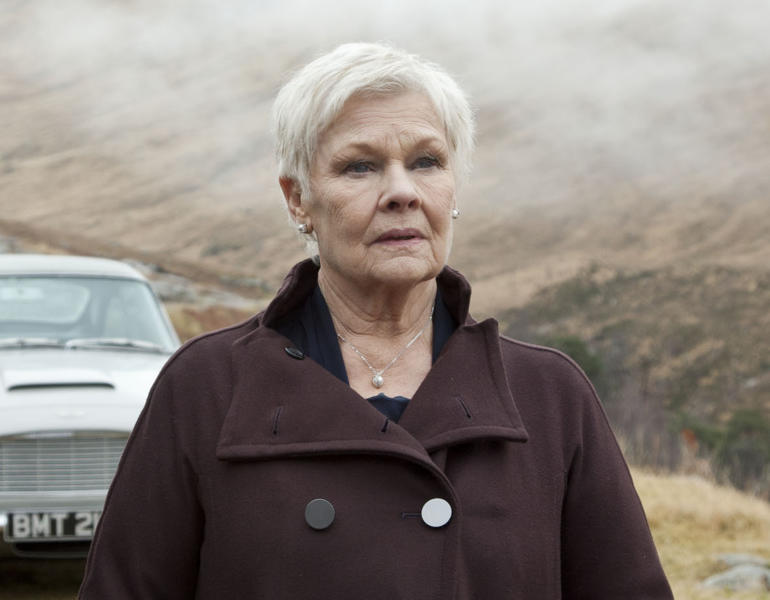 """This film image released by Sony Pictures shows Judi Dench as MI6 head M, in a scene from the film """"Skyfall."""" Dench resurrected Her James Bond character M in a video released Thursday, Nov. 7, as part of the Weinstein Co.'s appeal to the Motion Picture Association of America to change the rating of Dench's latest film,""""Philomena."""" The MPAA has given the film an R rating for language, but the Weinstein Co. wants it changed to PG-13. The film is set for release later this month. (AP Photo/Sony Pictures, Francois Duhamel)"""