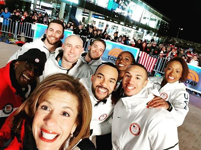<p>Hakeem Abdul-Saboor USA, bobsleigh<br> has_fitness: We hanging out on the @todayshow. Having a blast and taking selfies with @hodakotb and @alroker#teamusa #winterolympoics<br> (Photo via Instagram/has_fitness) </p>