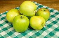 <p>Originally named the Mutsu apple when it was discovered in Japan in the 1930s, these apples were renamed Crispins when they were first brought to the U.S. and the U.K. in the late 1940s. They're big, juicy and super-crisp and have a sweet, slightly tart flavor with notes of honey.</p>