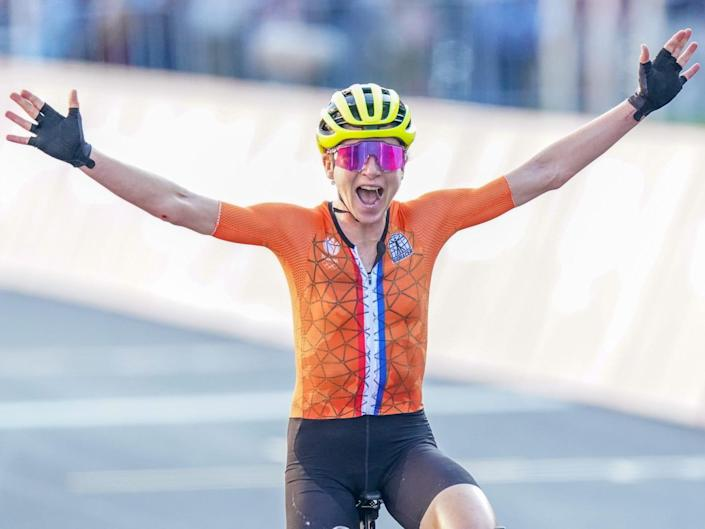 Annemiek van Vleuten celebrated thinking she'd won the Olympic title, but later found out she came second.