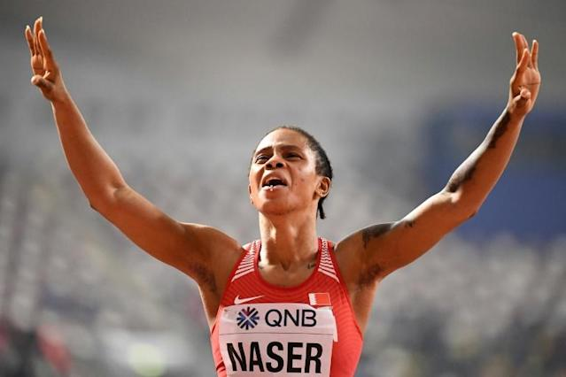 Salwa Eid Naser won the women's 400m final at the 2019 World Championships (AFP Photo/Jewel SAMAD)