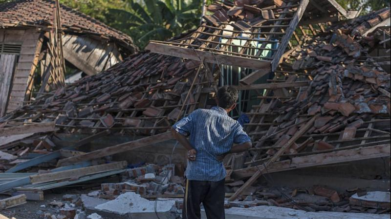 Most of the earthquake victims died in northern Lombok, where numerous houses and mosques collapsed