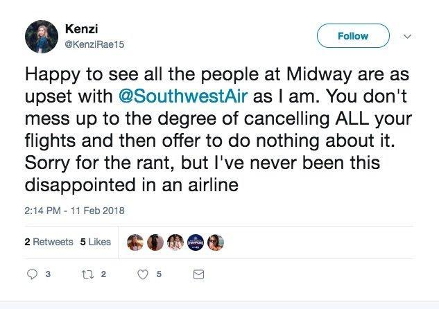 Southwest was forced to cancel hundreds of flights because