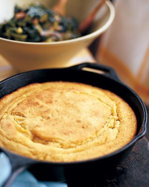 """<p>Consider this your go-to recipe for a cast-iron skillet cornbread. A combination of yellow cornmeal and all-purpose flour are used for the base of this northern-style cornbread, plus buttermilk which adds tang. <a href=""""https://www.marthastewart.com/355583/skillet-cornbread"""" rel=""""nofollow noopener"""" target=""""_blank"""" data-ylk=""""slk:View recipe"""" class=""""link rapid-noclick-resp""""> View recipe </a></p>"""