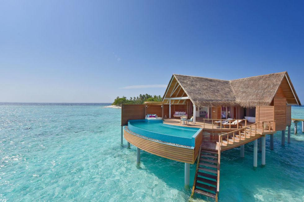"""<p>Every villa at the new Milaidhoo Island resort has its own private swimming pool and opens up 180 degrees, which maximizes the gorgeous view guests flew from all over the world to wake up to every day. Sigh. </p><p><a rel=""""nofollow"""" href=""""http://www.milaidhoo.com/""""><em>See more at Milaidhoo Island »</em></a></p>"""