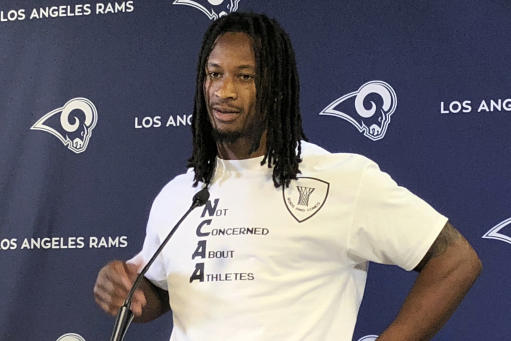 Rams RB Gurley misses practice with thigh contusion