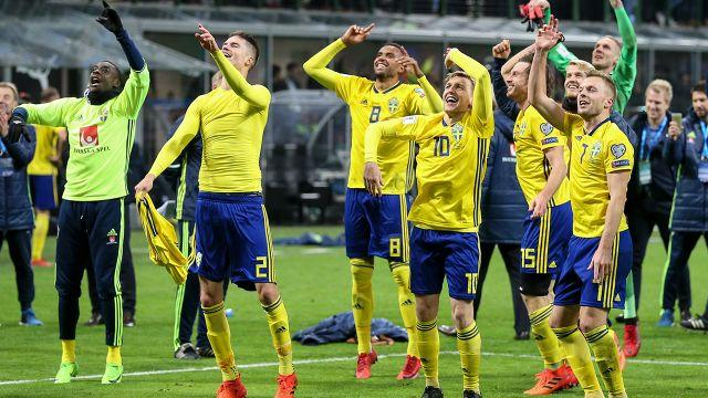 Happy days for the Swedes. Image: Getty