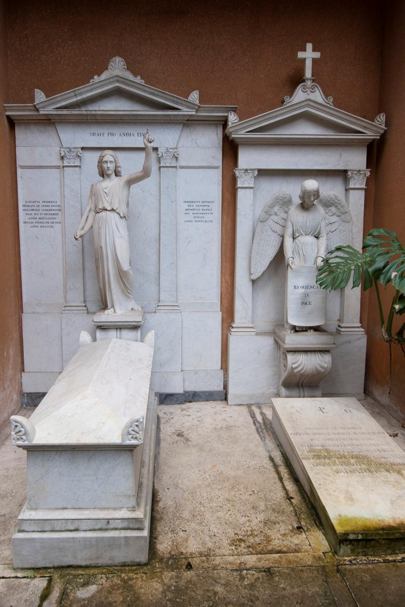 Pictured are the tombs in a cemetery on the Vatican's grounds before they were opened to test the DNA of bones to help solve the 36-year-old disappearance of Emanuela Orlandi..