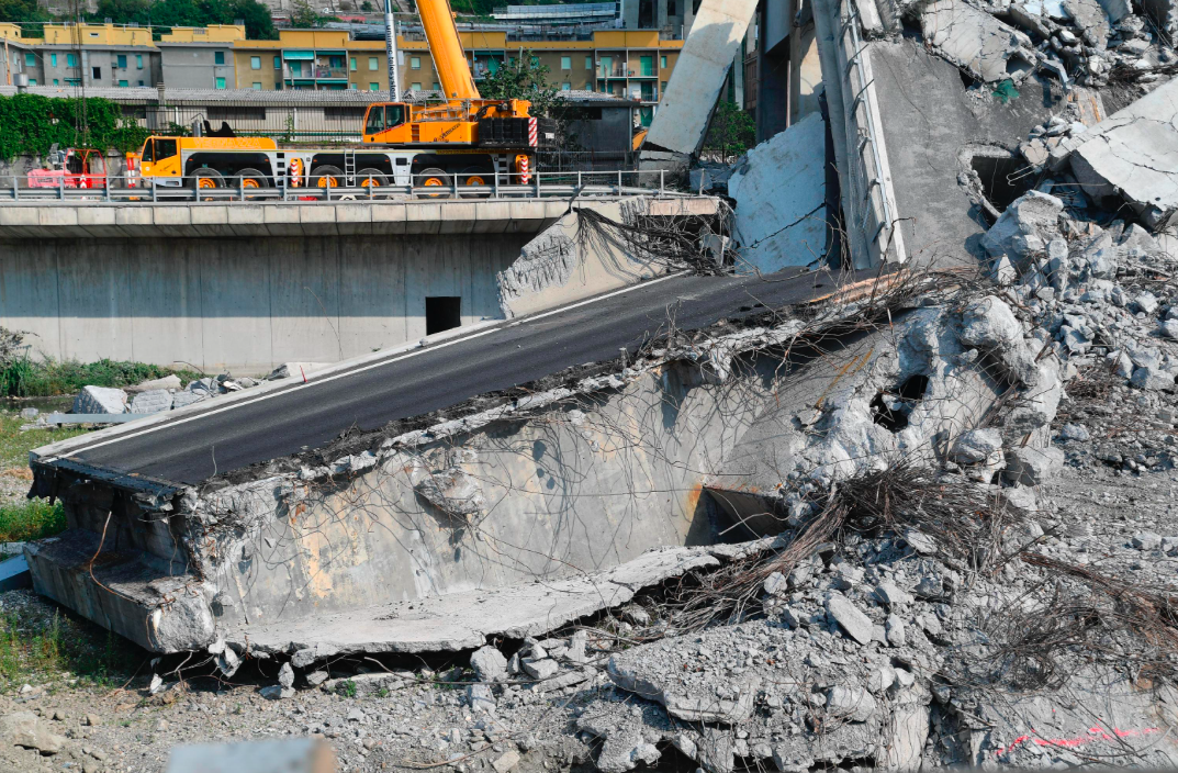 <em>The cause of the bridge collapse is currently being investigated (AP)</em>