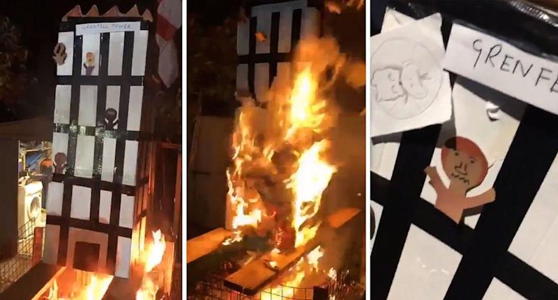 A man has been charged following an investigation into a video posted online that showed a cardboard model of Grenfell Tower being burnt.