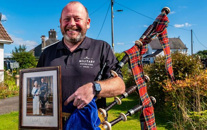 Pipe Major Scott Methven held the role of Queen's Piper for four years after returning from service in Afghanistan - Stuart Nicol
