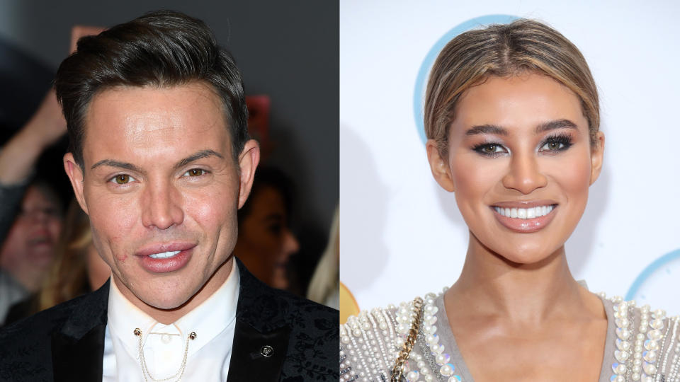 'TOWIE' star Bobby Norris and 'Love Island' contestant Montana Brown. (Credit: Gareth Cattermole/Getty Images/Mike Marsland/WireImage)