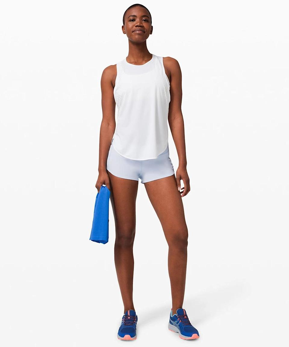<p>Get in a sweaty workout with the breathable <span>Lululemon Speed Up Short</span> ($58).</p>