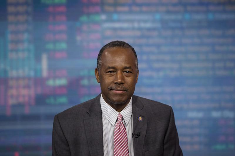 """Ben Carson, secretary of housing and urban development, said people are just """"stupid"""" when they say he's not qualified to lead the nation'shousing agency. (Bloomberg via Getty Images)"""
