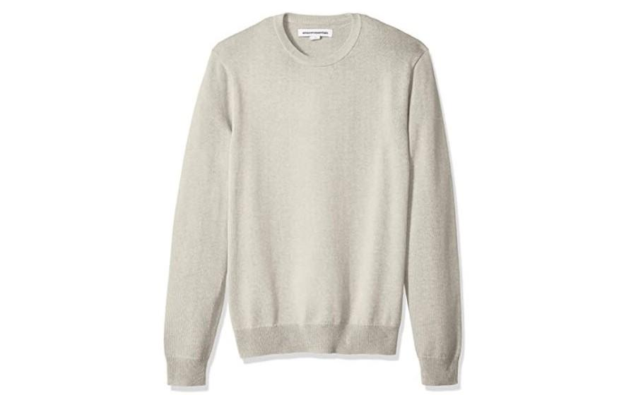 Amazon Essentials Crewneck Sweater in Oatmeal Heather. (Image via Amazon)