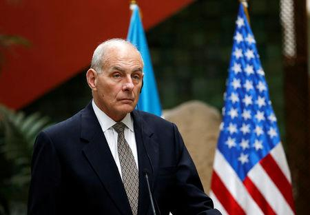 U.S. Homeland Security Secretary John Kelly attends a joint news conference with Guatemala's Foreign Minister Carlos Raul Morales in Guatemala City